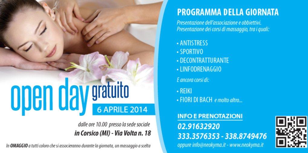Scuola massaggi a Milano-open day